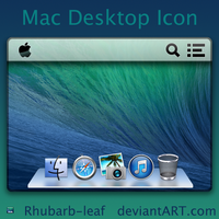 Mac Desktop Icon PSD and ICNS by rhubarb-leaf