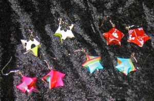 Star earrings 1 by Selenere