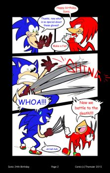 Sonic's 24th Birthday--page 2 by SonicFF