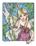 Flower Pixie Watercolor by lady-cybercat