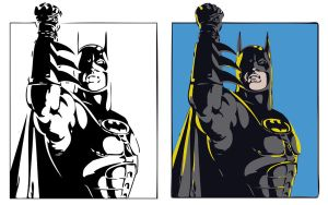 Batman Returns Vector Art by markhossain