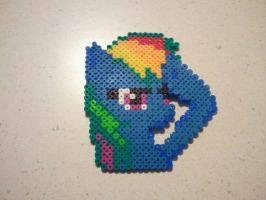 Rainbow Dash Perler Art by kev3136