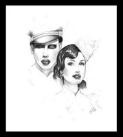 Dita and Marilyn Manson by tainted-orchid