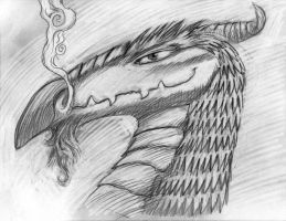 Periscope 001 Drawing Dragon by KurtBrugel