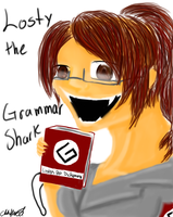 Losty the Grammar Shark by ChuChuDarling81