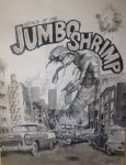 Attack Of The Jumbo Shrimp (Painting) by FastLaneIllustration