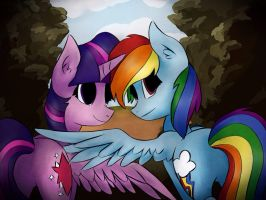 Twidash - In the privacy of the bushes by mylittlelevi64