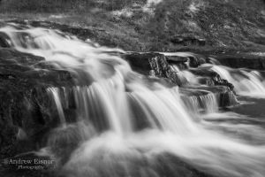 Monochrome Falls by AEisnor