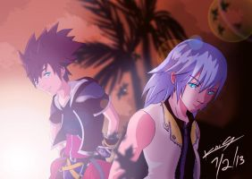 Sora and Riku by SC2Battousai