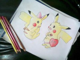 Pikachu and Pikachu by AbirAhmed