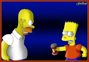 homero vs bart by guilleapi