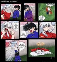 Inuyasha VS Ranma - Coloured by nalina