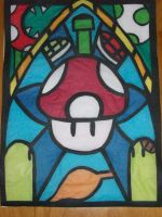 Mario Stained Glass by DL2288