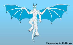 COM : Albeon Dragon Anthro version by whiteguardian