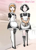 Amputee Maid Cafe by hielga