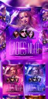 Ladies Night Party Flyer by caniseeu
