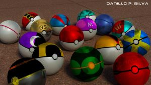 Pokeballs by magrozo