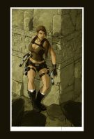 lara croft : colo by illyne