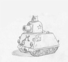 A Pig In A Tank by PeteYong