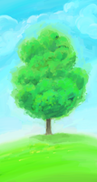 Lonely Tree by polian