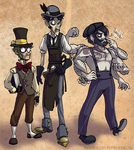 Steampunk trio by Bilious