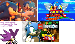 Reaction to Project Sonic,Sonic Mania, Lego Sonic by sonicmechaomega999