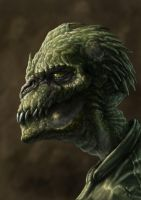 Reptilian Face by mawelman