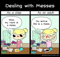 Dealing with messes by DoodleForFood