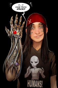 it's from space XD by nebezial