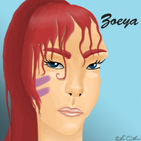 First go in Photoshop: Zoeya Fan art by KoalaLover99