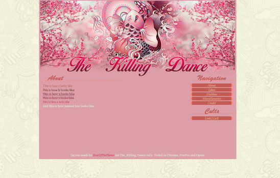 The killing dance Layout by RoseOfTheFlames