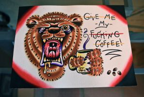 Coffee Bear by Jlynntaylorart