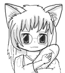 Sayuri Holding a Loaf of French Bread by WolfCoder