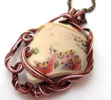 Antique China Necklace by sojourncuriosities