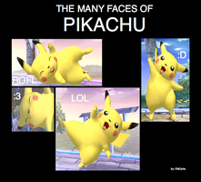 The Many Faces of Pikachu by EMCarts