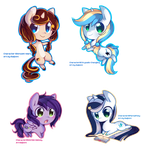 IRL Commissions - Chibi ponies by pekou