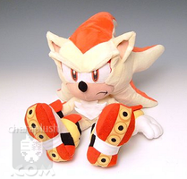 Sonic Super Shadow Plush Sit by kaijumama