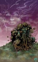 Swamp Thing and Abby by Powell by KevinJConley1