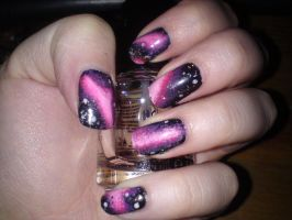 Galaxy nails by hellduck