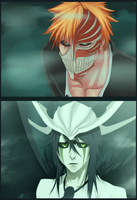 Ichigo vs Ulqiorra by Plaitum