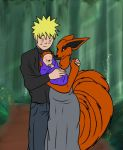 Naruto and Kyuubi's Family Portrait by demonstardust