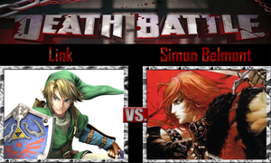 Link vs Simon Belmont by SonicPal