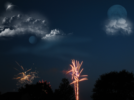 A Firework Premade Image 0542 by WDWParksGal-Stock