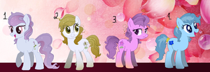 ~*Flower Ponies Adoption *~*(Closed) by StarChaseSketches