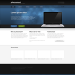 Simple Webdesign Blue version by phenomart