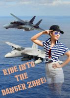 Lily Collins Does Top Gun! by BlueWolfRanger95