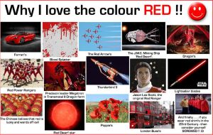 Why I love the colour red by DoctorWhoOne