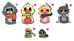 Scarfblob Adopts - REDUCED by joaniek