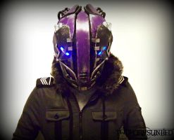 The K-WiR3 Cyberpunk helmet by TwoHornsUnited