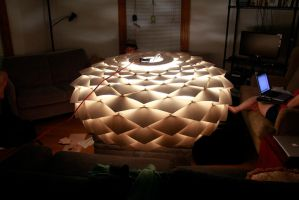 giant pinecone chandelier by DracoLoricatus